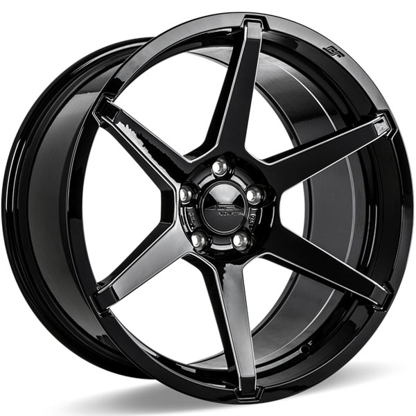 Ace Alloy AFF06 V006D Gloss Black Milled