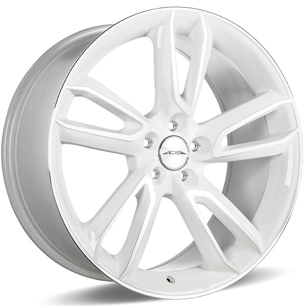 Ace Alloy Scorpio C902 White with Machined Face