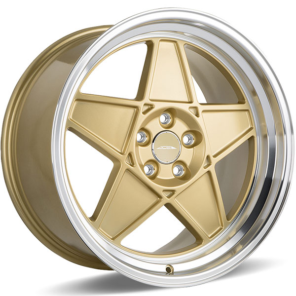 Ace Alloy SL-5 C917 Matte Center Gold with Shining Machined Lip