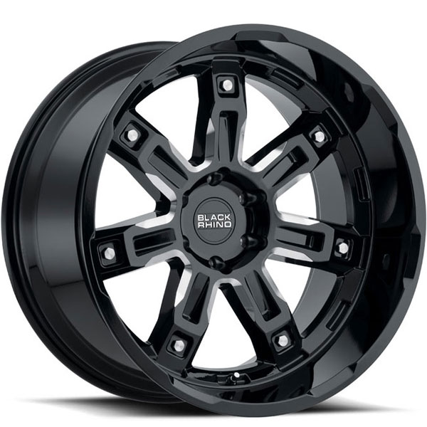 Black Rhino Locker Gloss Black with Milled Spokes
