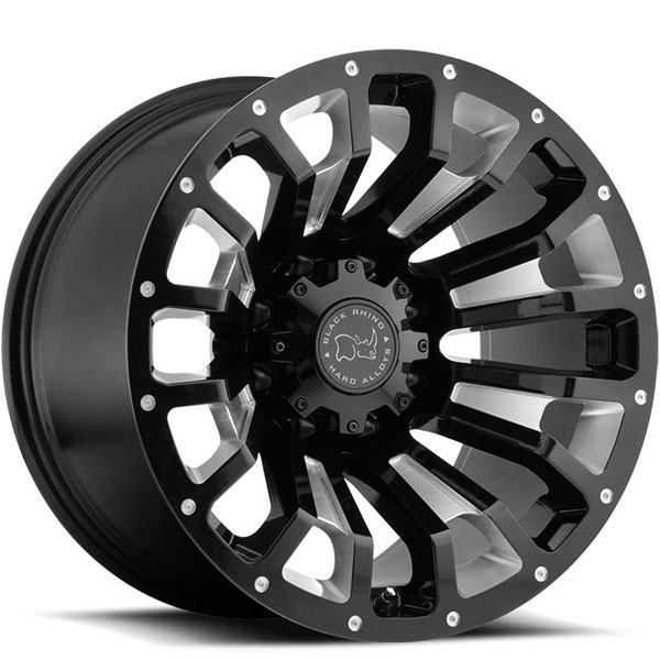 Black Rhino Pinatubo Gloss Black with Milled Inside Window 12 Inch