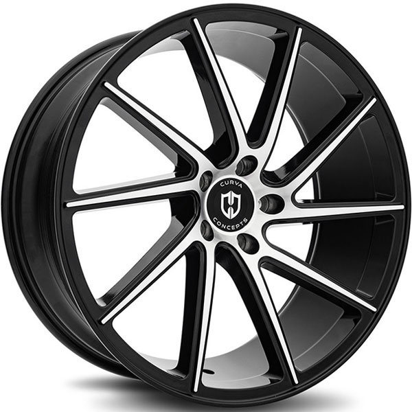 Curva Concepts C22 Gloss Black with Machined Face