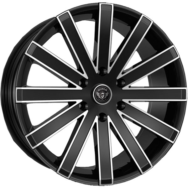 Gima Paradox Black wtih Machined Edges 6 Lug