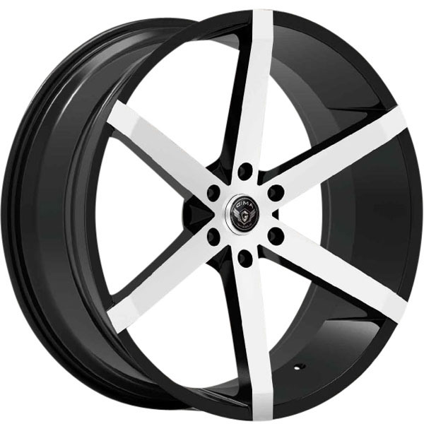 Gima SLY Black with Machined Face 6 Lug