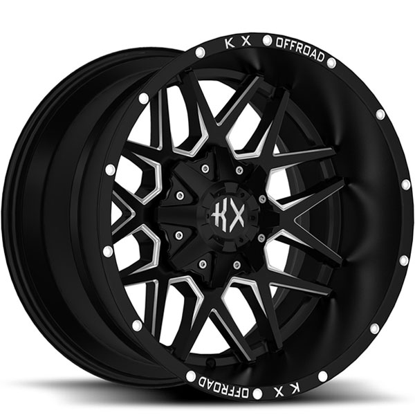 KX Offroad KX05 Matte Black with Milled Spokes
