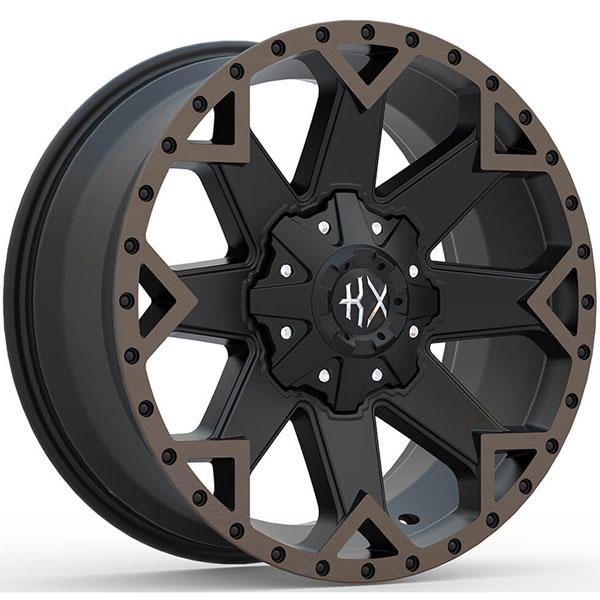 KX Offroad KX09 Matte Black with Machined Face and Bronze Tint