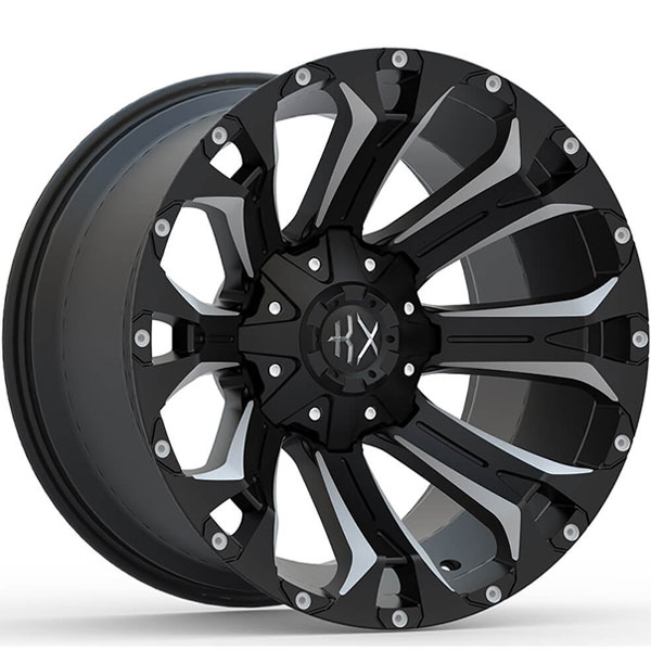 KX Offroad KX11 Matte Black with Milled Spokes