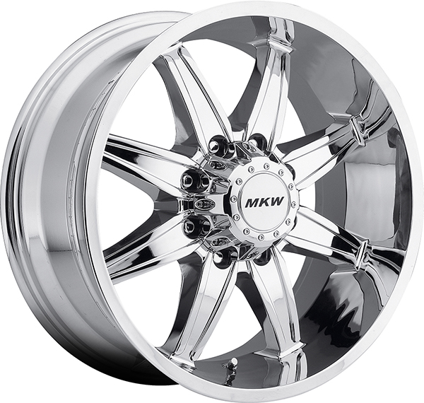 MKW M89 Chrome 8 Lug