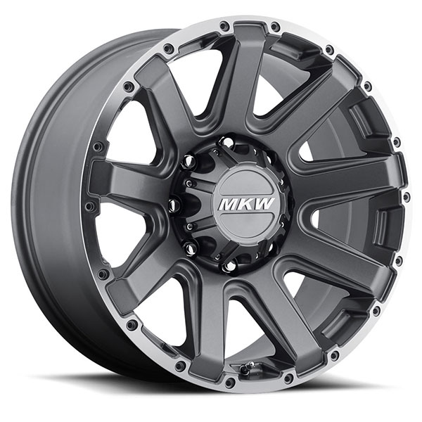 MKW M94 Gray Machined 8 Lug