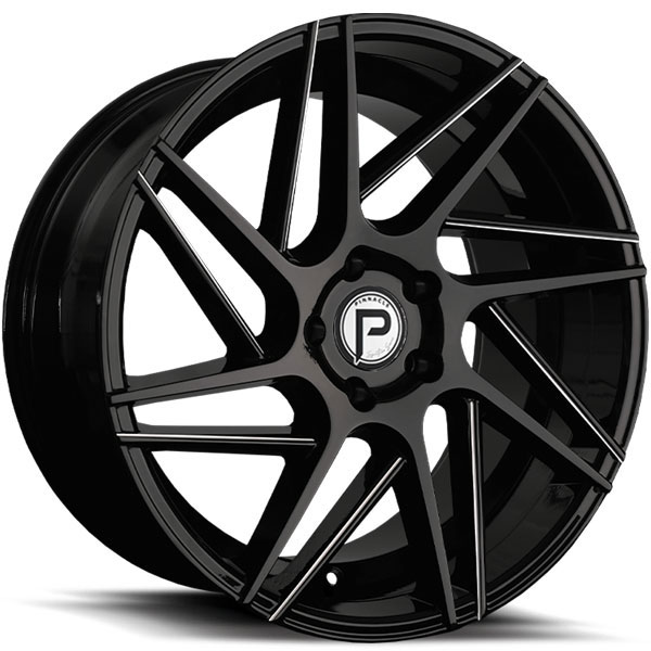 Pinnacle P104 Swerve Gloss Black with Milled Spokes