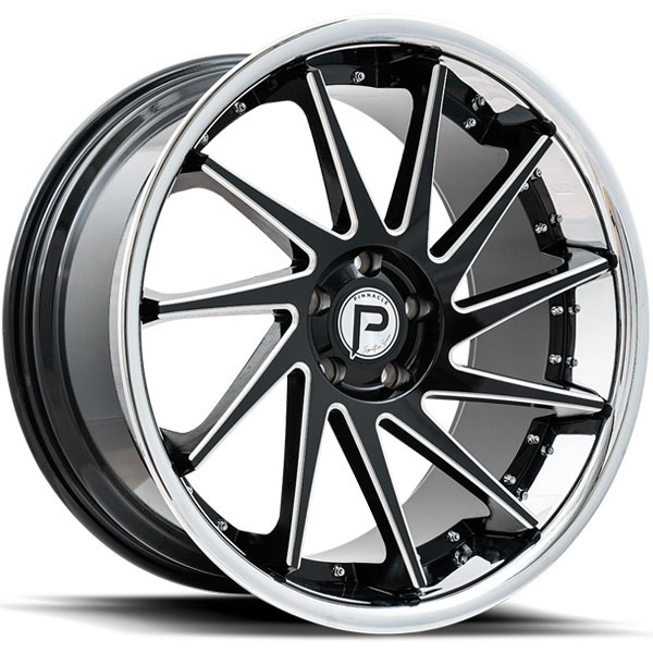Pinnacle P216 Epic Gloss Black with Milled Spokes and SS Lip