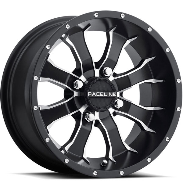 Raceline A77 Mamba UTV Black with Machined Spokes