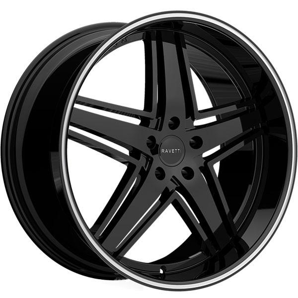 Ravetti M6 Black with Machined Stripe