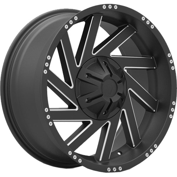 Red Dirt Road RD18 Turbine Black with Machined Spokes