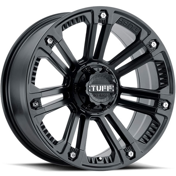 Tuff T22 Matte Black with Stainless Steel Bolts
