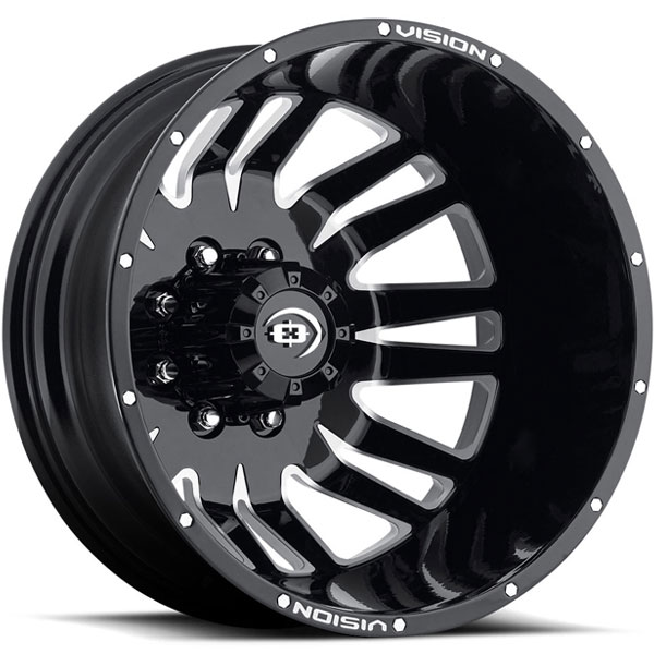 Vision 401 Rival Gloss Black with Machined Face Rear